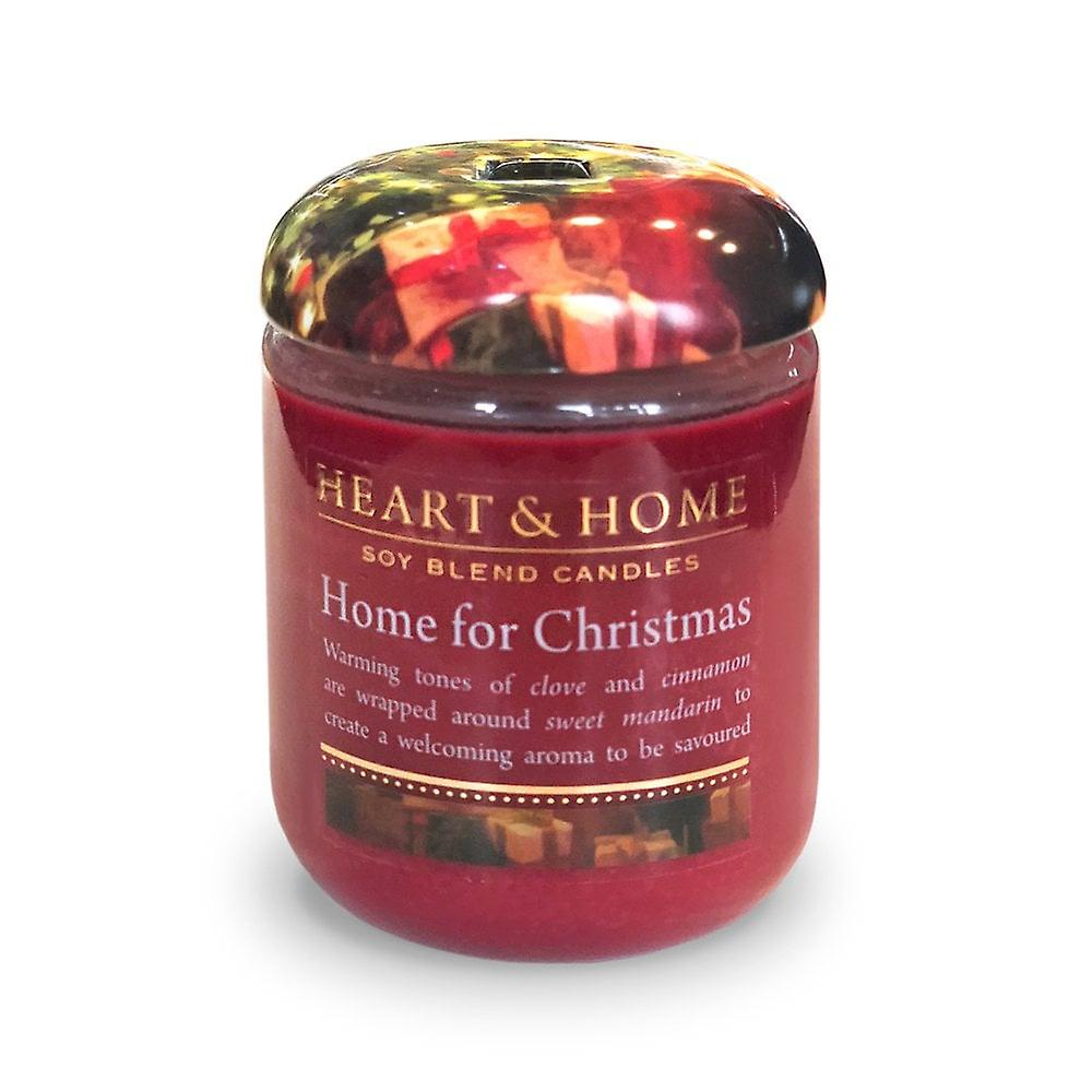 Heart & Home Small Candle Jar Home For Christmas