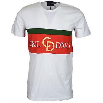 Criminal Damage Dolfo Logo Cotton Tee White/gold