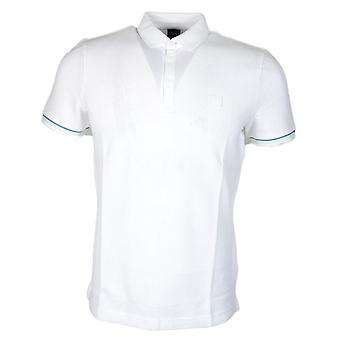 Hugo Boss Printcat Short Sleeve Cotton White Polo Shirt