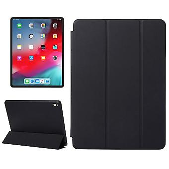 For iPad Pro 11 Inch (2018) Case,Solid Color PU Leather Folio Cover,Black