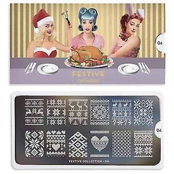 MoYou London Nail Art Image Plate - Festive 04 (MCFES04)