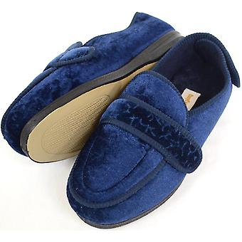 Dames / Womens orthopedische / EEE breed Fit klittenband Slipper Boot / Slippers - Bourgondië - UK 4