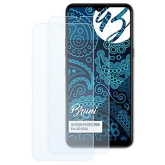 Bruni 2x Screen Protector kompatibel med LG K50S Beskyttende Film