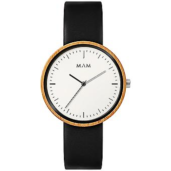 Mam Original japanese Quartz Analog Man Watch with PLANO Cowskin Bracelet 644