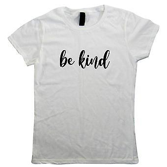Seien Sie freundlich Womens T Shirt, Wohlbefinden psychische Gesundheit Bewusstsein Unterstützung Samariter