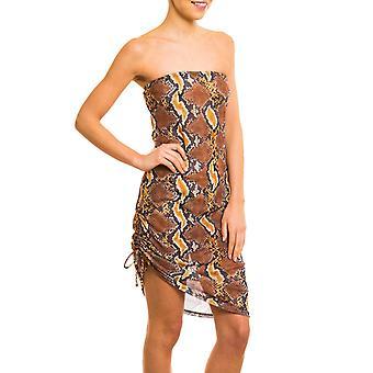 Boa tan through beach dress