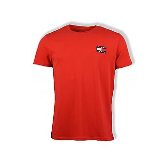 Tommy Jeans Badge T-Shirt (Deep Crimson)