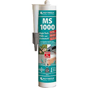 HOTREGA® MS 1000 High-Tech lijm en kit, 290 ml cartridge, grijs