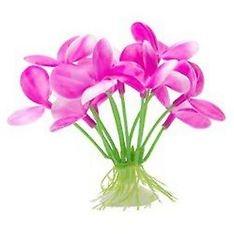 Marina Pink Orchid with Suction Cup (Fish , Decoration , Artificitial Plants)