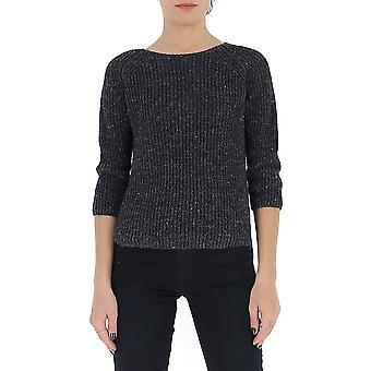 Gentry Portofino D615gtg0018 Women's Grey Cotton Sweater