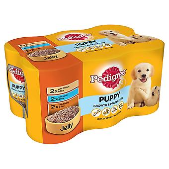 Pedigree Chunks In Jelly Tins Puppy Food (4 X Pack Of 6 X 400g)