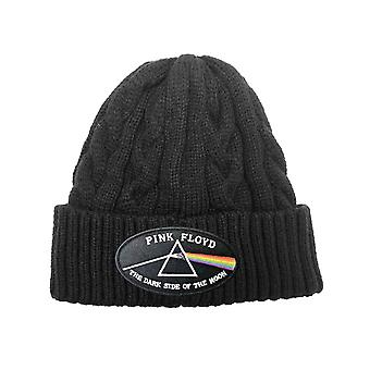 Pink Floyd Beanie Cappello Lato Oscuro della Luna Black Border nuovo cavo ufficiale in maglia