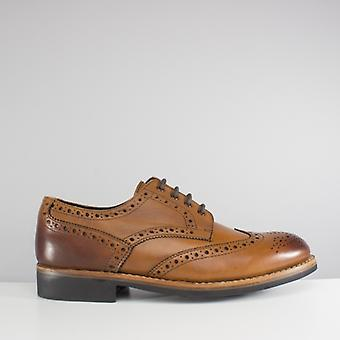 Catesby Shoemakers Edvin Mens Brogue Shoes Tan