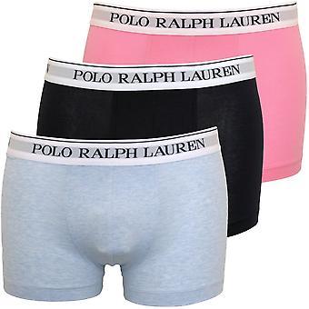 Polo Ralph Lauren 3-Pack Classic Boxer Trunks, Blue/Pink/Navy