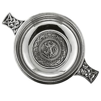 Scotland Lion Rampant Pewter Quaich - 3.5""
