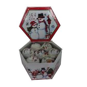 Natal bauble Natal Boneco de Neve 14-pack D7, 5 cm