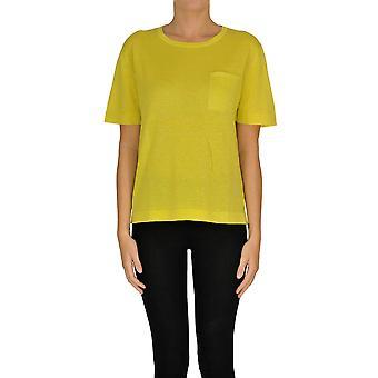 Alyki Ezgl111019 Women's Yellow Cotton Sweater