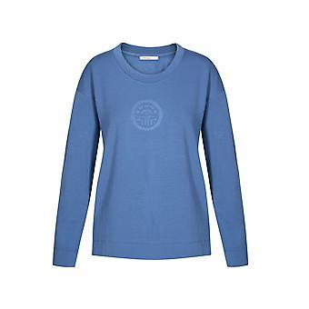 Féraud 3191094-11820 Dámské & apos;s ležérní Chic Deep Ocean Blue Loungewear Mikina Top