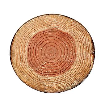 Round Mat Wood grain pattern non-slip