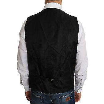 دولتشي وغابانا الصوف الأسود ثوب صدرية - TSH2439024