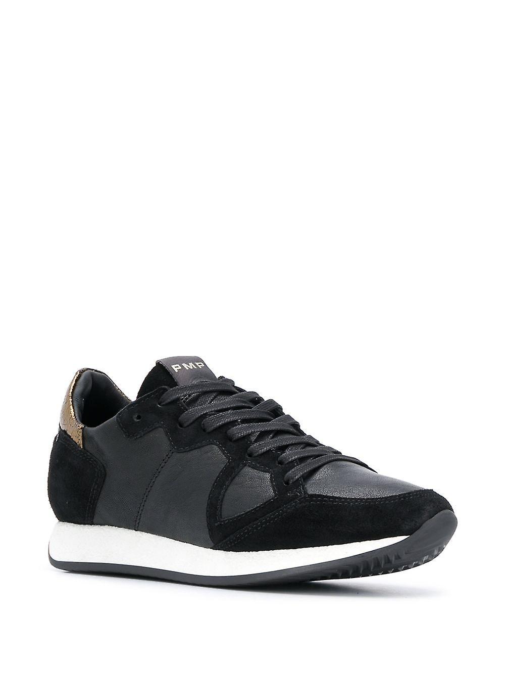 Philippe Model Ezcr030007 Women's Black Leather Sneakers - Gratis verzending plaqtH