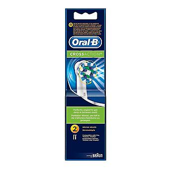 Replacement Head Cross Action Oral-B (2 uds)