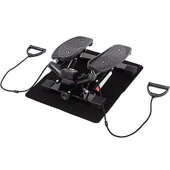 HOMCOM Mini Stepper Exercise Stepper Machine Legs Arms Thigh Toner Toning Machine Workout Training Fitness Stair Steps New Black