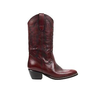 •ME BROWN TEXAN STYLE BOOT