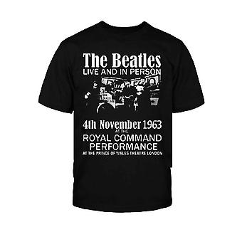 The Beatles Live & In Person Official Kids New Black T Shirt (W wieku 5-12 lat)