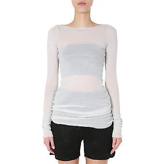 Rick Owens Ro20s1252mr61 Women's White Cotton Sweater