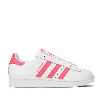 Girl's adidas Originals Junior Superstar Trainers in White