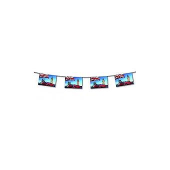 Union Jack Wear London Bus Paper Bunting 4.5m