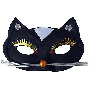 Musta kissa maski aikuisille