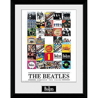 The Beatles genom åren inramade bild