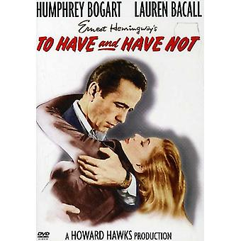 Å ha & har ikke (1944) [DVD] USA importere
