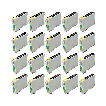 RudyTwos 20x Replacement for Epson 18XL(Daisy) Ink Unit Black Compatible with Expression Home XP-102, XP-202, XP-205, XP-212, XP-215, XP-225, XP-30, XP-33, XP-302, XP-305, XP-312, XP-315, XP-322, XP-3
