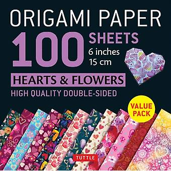 Origami Paper 100 sheets Hearts amp Flowers 6 15 cm  Tuttle Origami Paper HighQuality DoubleSided Origami Sheets Printed with 12 Different Patterns Instructions for 6 Projects Included by Tuttle Publishing