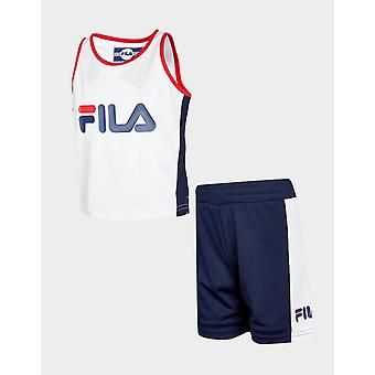 New Fila Infant Carter Mesh Vest/Shorts Set White