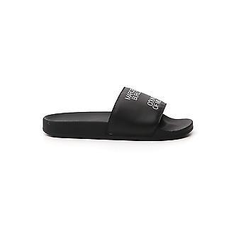Marcelo Burlon Cmia027e20pla0031001 Men's Black Plastic Sandals