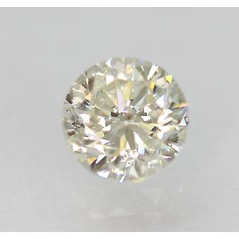 Certified 0.70 Carat H SI1 Round Brilliant Enhanced Natural Loose Diamond 5.32mm