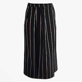Humility  - Pinstripe Samurai Pants - Black