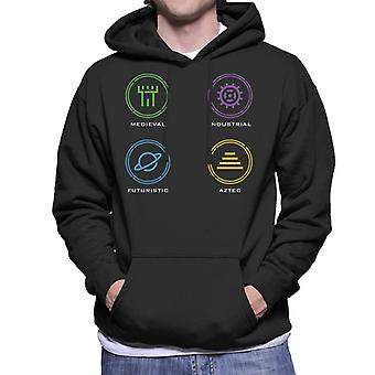 The Crystal Maze Zone Icons Men's Hooded Sweatshirt