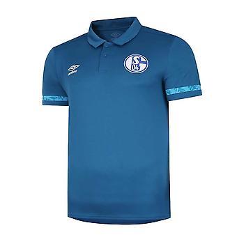 2020-2021 Camisa Schalke Poly Polo (Azul)
