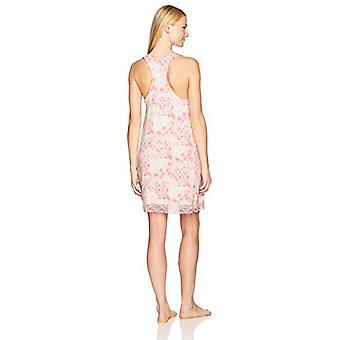 Marke - Mae Women's Sleepwear Racerback Chemise Nachthemd, Rosa Krawatte Dy...