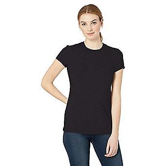 Marka - Daily Ritual Women&s Umyta bawełna z krótkim rękawem Koszulka z krótkim rękawem, czarny, X-Large