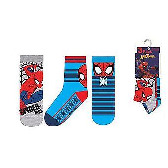 Spider-Man strumpor  3-pack - Grå/Blå/Randig