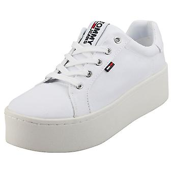 Tommy Jeans Sneaker Womens Flatform Trainers in White