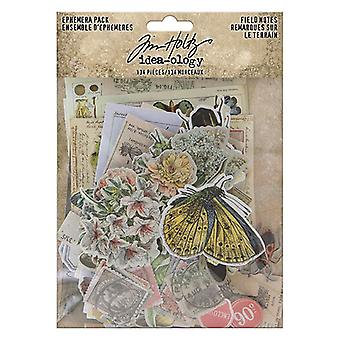 Idé-ologi Tim Holtz Field Notes Ephemera Pack