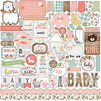 Echo Park Baby Mädchen 12 x 12 Zoll Element Aufkleber