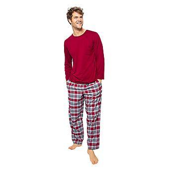 Cyberjammies Liam 6520 Men's Burgundy Red Pyjama Top